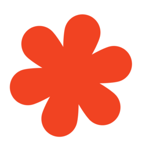Flower Shape Red