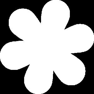 Flower Shape White