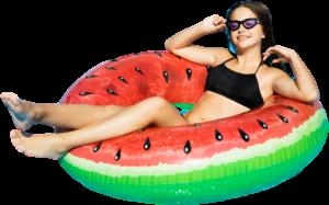 Girl Swim Donut Ring