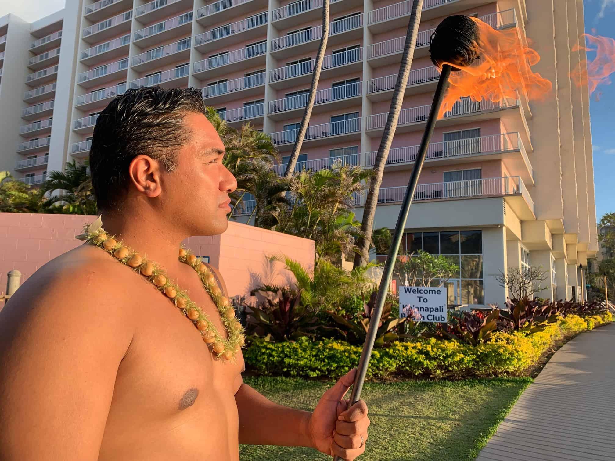 Torch Lighting Ceremony Maui